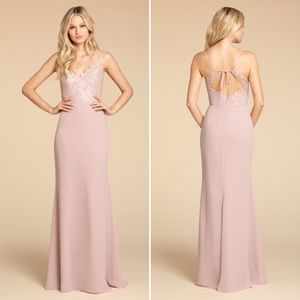 Hayley Paige Gown Dusty Rose 5905-MN NWT 6